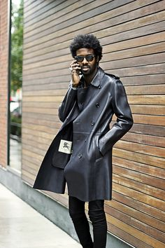 Burberry leather trench coat