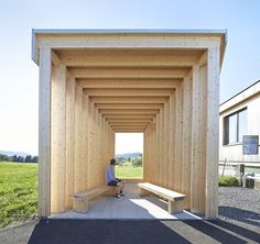 sculptural bus stops for a tiny Austrian village of 1000 inhabitants