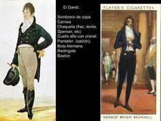 En la moda de hombre aparece con fuerza la figura del Dandy.