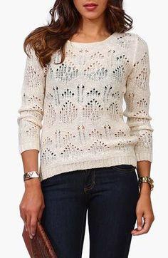 Round Neck Sweater in Beige...LOVE THE TOP!