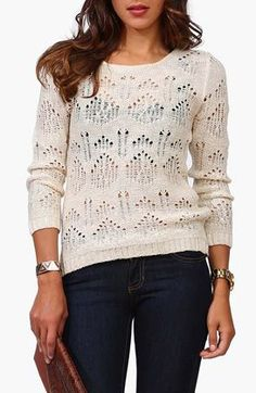 Round Neck Sweater in Beige...LOVE THE TOP!