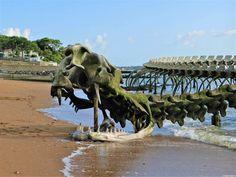 Saints, Lion Sculpture, Photos, Ocean, Statue, Art, Kite, Pathways, Brittany