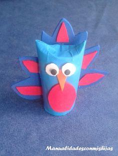 #Retoinfantil: Pavo Real con tubos de cartón y goma eva  Crafts Toilet Paper Roll