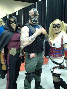 Red Robin, Bane and Harley Quinn