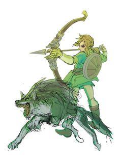 By: つゆが Breath of the Wild #Zelda #Nintendo #fanart