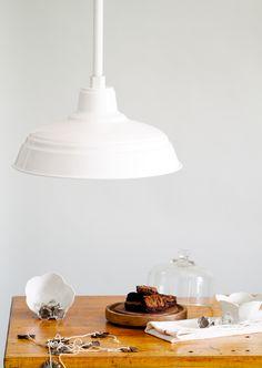 Old Dixie Stem Mount Pendant #Barnspiration | #white #brownie #kitchen #design