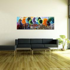 Original painting Abstract painting 47 x 16 landscape by goartit, £185.91