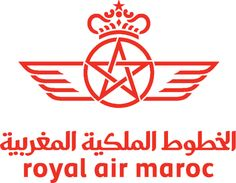 Royal Air Maroc logo: RAM is the flag carrier of Morocco, and its current logo was updated in 2009. The star of the logo is the national symbol of Morocco.