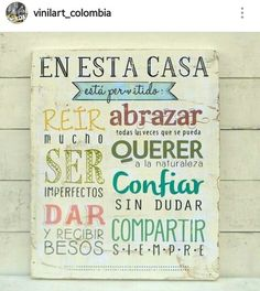 Siiii,...siempre! Beautiful Words, Ideas Para, Hand Lettering, Decoupage, Diy And Crafts, Projects To Try, Wood Projects, Sweet Home, Room Decor