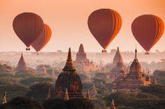 Balade en montgolfière à Bagan