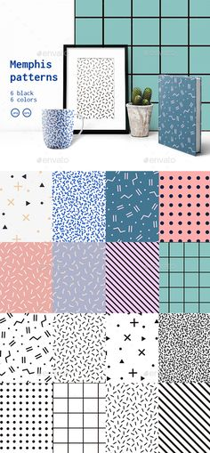 Buy Black and White Set Memphis Patterns by Fay_Francevna on GraphicRiver. Set of 16 memphis patterns in 6 black, 6 colors with geometric elements. Pattern in hipster style. Pattern is suitabl. Geometric Patterns, Line Patterns, Abstract Pattern, Textures Patterns, Geometric Graphic, Bg Design, Design Poster, Layout Design, Pattern Design