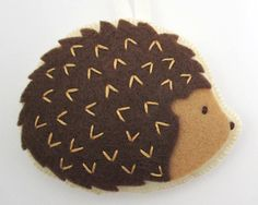 Felt Hedgehog Ornament by HeatherAnnRodak on Etsy