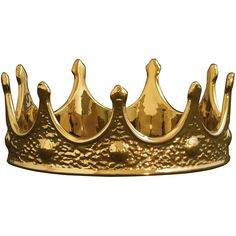 Limited Gold Edition Crown design by Seletti ($82) ❤ liked on Polyvore featuring home, home decor, fillers, accessories, crowns, hats, curios, gold home accessories, gold home decor and fishing home decor