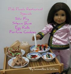 great fun, I would make some chopsticks and I have this chinese outfit pattern too
