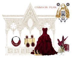 """""""ndulge Your Dark Side with Crimson Peak"""" by alibaba-i ❤ liked on Polyvore featuring Giuseppe Zanotti, Fairchild Baldwin, Milly, Effy Jewelry, NARS Cosmetics, Essie and Topshop"""