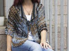 Katia Ribeiro Acessórios: Pelerine em tricô e crochê com receita e vídeo