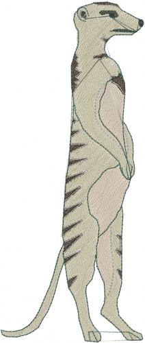 Meerkat Embroidery Design | AnnTheGran