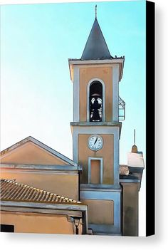 Bell Tower Of Chiesa San Egidio Abate In Vaiano, Umbria, Italy by Dorothy Berry-Lound.    #belfry  #belltower #vaiano #italy #landmark #campanile #building #historical #architecture #italian #bell #church #religious #construction #classical style #beautiful #structure #european #culture #scene #clocktower #clock #roofs #skyline #umbria #provinceofperugia #italia #religious  #dorothyberrylound