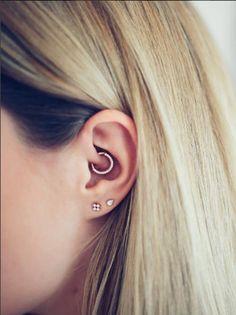Fresh daith piercing using our rose gold, forward facing diamond clicker on… Double Ear Piercings, Ear Piercings Tragus, Cute Ear Piercings, Piercing Tattoo, Lobe Piercing, Bar Earrings, Silver Hoop Earrings, Crystal Earrings, Tiny Earrings