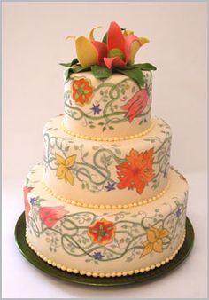 Beautiful Bridal: Hand Painted Wedding Cakes