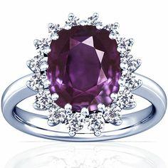Platinum Cushion Cut Purple Sapphire Ring With Sidestones GemsNY,http://www.amazon.com/dp/B00BSPGD8E/ref=cm_sw_r_pi_dp_CpRfsb1AMJ9PC95V