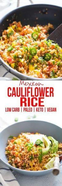 Low Carb Mexican Cauliflower Rice & Cauliflower Fried Rice & How to & Cauliflower Stir fry & Vegan & Paleo & Keto & & Gluten Free The post Low Carb Mexican Cauliflower Rice appeared first on Food Monster. Vegan Side Dishes, Food Dishes, Mexican Side Dishes, Low Carb Side Dishes, Main Dishes, Mexican Food Recipes, Whole Food Recipes, Diabetic Recipes, Vegan Keto Recipes