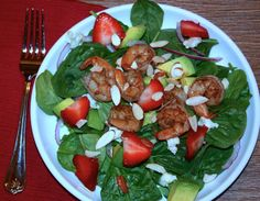 Spinach-Shrimp-Salad-Easy-healthy - thefoodieaffair.com