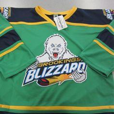 Green Jersey $65–$75 #BrookingsBlizzard #BlizzGear #hockey #merchandise
