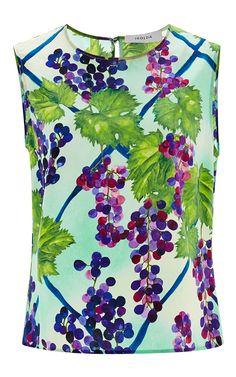 Silk Grapevine Sleeveless Top by Isolda Now Available on Moda Operandi