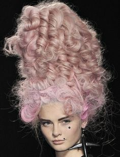 Jeremy Scott S/S 2009. Also, my hair in humidity. Sans the pink.