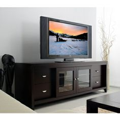 Abbyson Living Clarkston 72-inch TV Console | Overstock.com Shopping - The Best Deals on Entertainment Centers