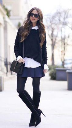 Prep Girl by Something navy #JBrand #Wolford #ChristianLouboutin #360 #Wildfox #Valentino @flinkhq #ootd #fashion #love #fashionblogger #flinkhq