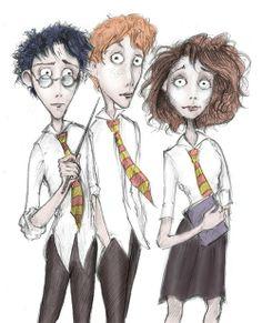 #Harry Potter - Tim Burton cartoon.