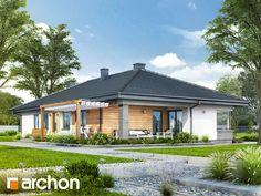 Dom w żagwinach - nowoczesny dom parterowy z ciekawym układem funkcjonalnym.