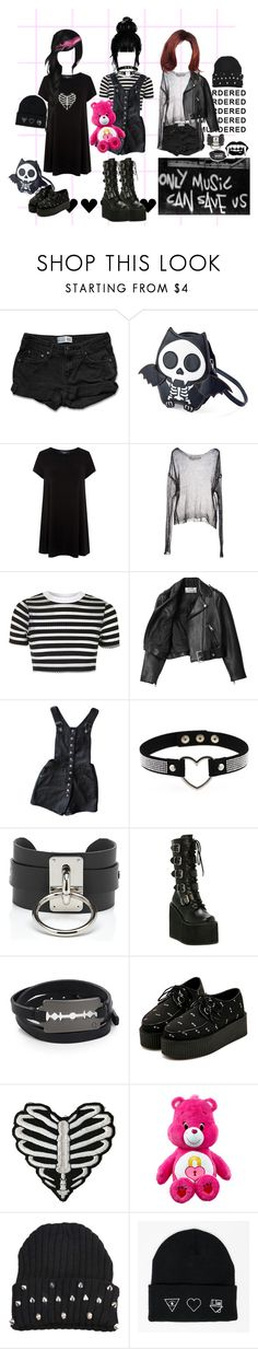"""""""rip 2 my youth"""" by corpsebabydoll ❤ liked on Polyvore featuring Levi's, ISABEL BENENATO, Topshop, Acne Studios, Zana Bayne, Demonia and McQ by Alexander McQueen"""