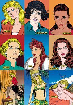 Le donne di Diabolik 1990 Diabolik, Comic Art, Comic Books, 1990, Ligne Claire, Art Pop, Pin Up, Childhood, Paintings