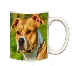 Pit Bull - Herculese - Ceramic Coffee/Latte Mug by DoggyLips  - 2 sizes by DoggyLips on Etsy