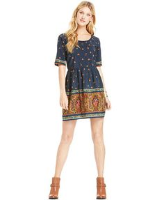BeBop Juniors' Printed Babydoll Dress