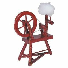 "Dollhouse Miniature Mahogany Spinning Wheel by Aztec Imports, Inc.. $12.99. Wooden. Wheels spin!  2 5/8""W x 3 1/4""H x 1 1/4""D. Save 13%!"