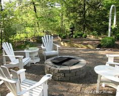 Outdoor Firepit Area Simple Clean Pretty Yard And Love The Fence Backyard Ideas Pinterest