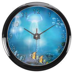 Underwater 7 Aqua Clock & Numeral Options