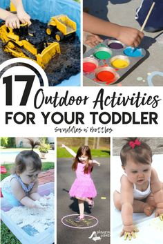 Outdoor Activities for your Toddler . Spring Activities for kids. Outdoor activities for toddler during summer Outdoor Activities For Toddlers, Activities For 1 Year Olds, Spring Activities, Hands On Activities, Infant Activities, Educational Activities, Learning Activities, Indoor Activities, Toddler Play