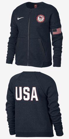 5f7e6ffa4b00 Sweatshirts and Hoodies 152554  Nike Tech Fleece Team Usa Big Kids Girls Zip  Jacket 826871