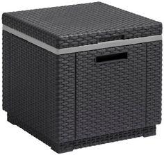 Allibert 17194600 Contenitore di raffreddamento con cubi di ghiaccio, Grafite