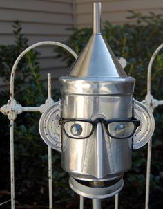 Pot Head Yard Art. $40.00, via Etsy.
