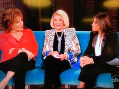 On The View with Melissa and Joy - sporting my Sophisticated Style Cascade Necklace - http://qvc.co/CascadeNecklace