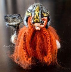 Needle Felted Gimli Lord of the Rings Mini Waldorf Wool Felting Felt