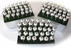 Soccer Ball Cake Pop Centerpieces