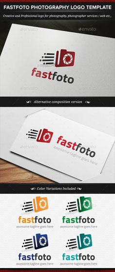 Fastfoto Photography  - Logo Design Template Vector #logotype Download it here: http://graphicriver.net/item/fastfoto-photography-logo-template/11255604?s_rank=1641?ref=nexion