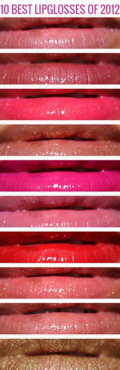 Top 10 of 2012: Lipglosses - Temptalia Beauty Blog: Makeup Reviews, Beauty Tips